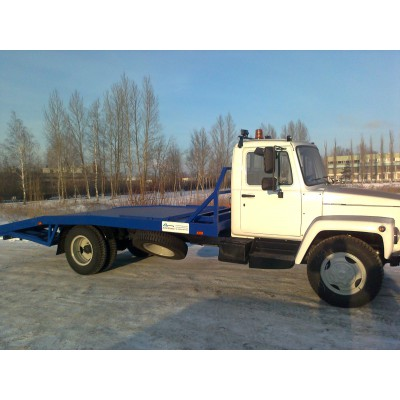 """Автоэвакуатор ГАЗ 3309 """"Газон"""" с ломаной платформой"""